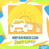 Don't litter campaign - Graphic #1