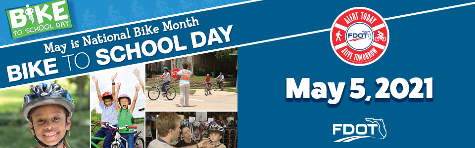 Bike Safety - National Bike to School Day is May 5, 2021 - Web Banner