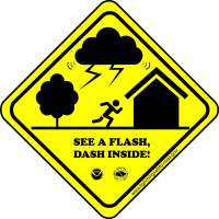 See A Flash, Dash Inside!