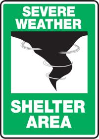 Severe Weather Shelter Sign