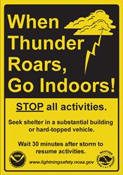 When Thunder Roads, Go Indoors!