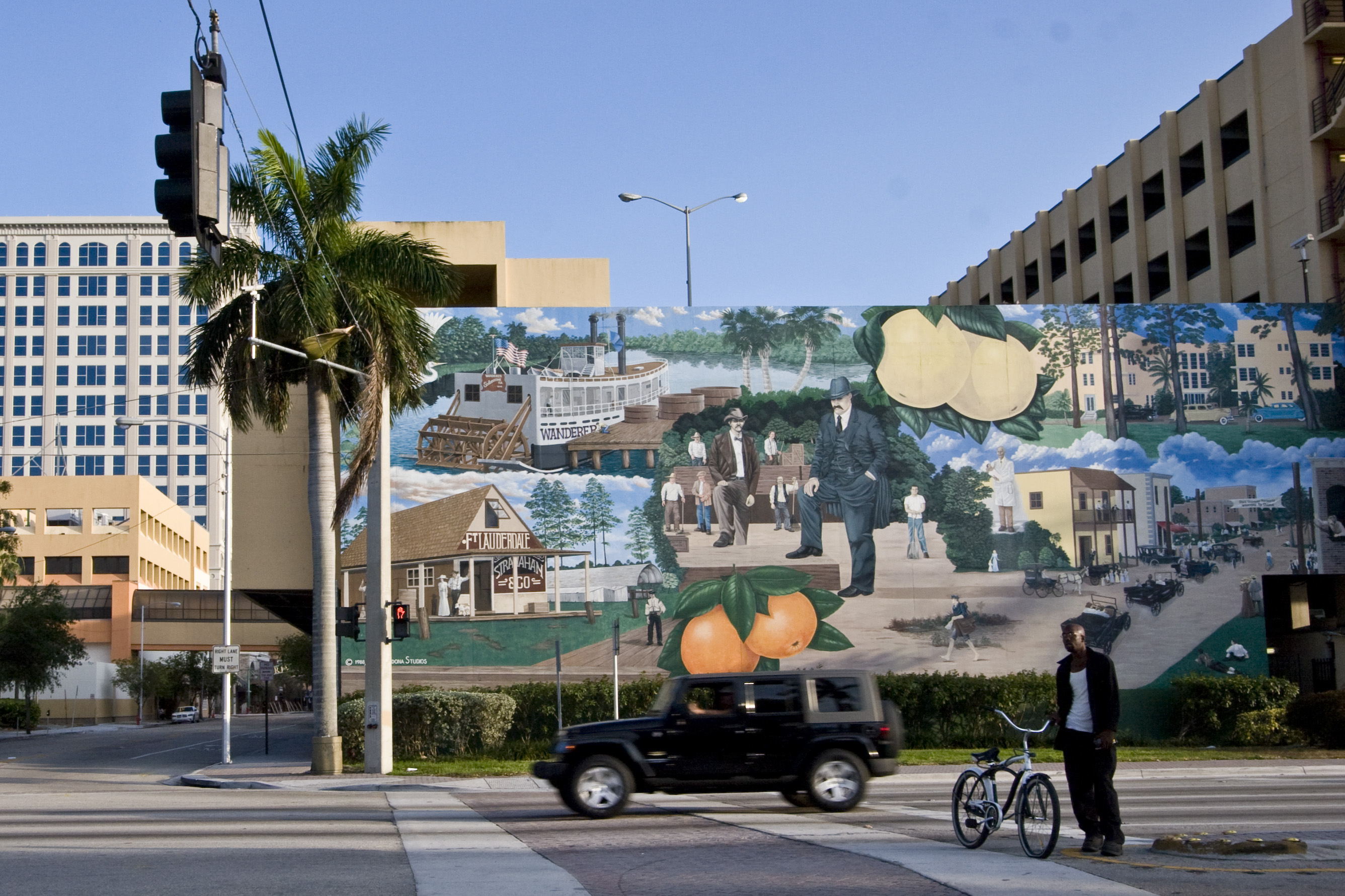 Image of the Broward County History Mural in Fort Lauderdale