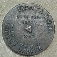 Picture of FDOT survey monument