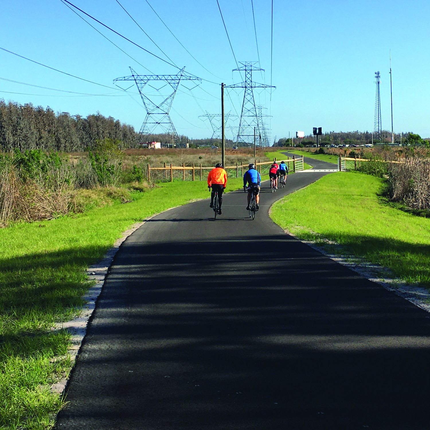 Cyclists on the Starkey Trail. Financial Management Number: 435719-1