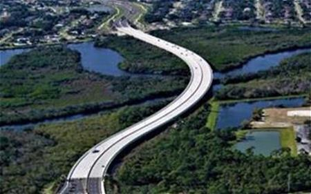 East end of Crosstown Parkway Bridge Extension near US-1 looking west to Floresta Drive_Port St. Lucie