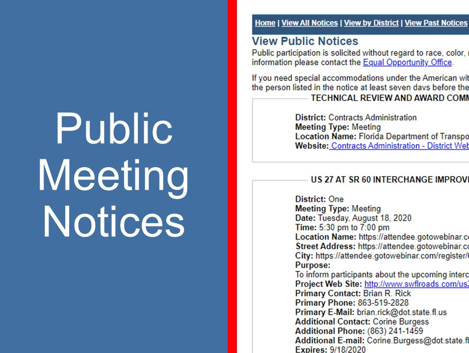 Public Meeting Notices