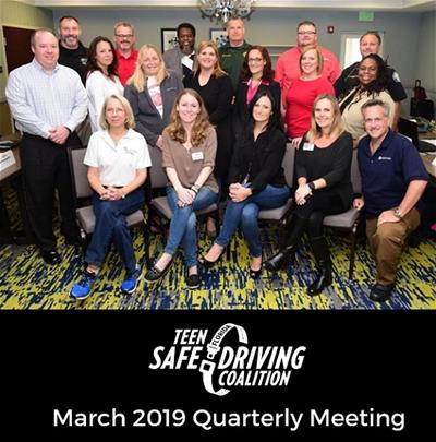 Picture of Teen Safe Driving Coalition March 2019 quarterly meeting attendees