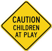 graphic of Children at Play sign