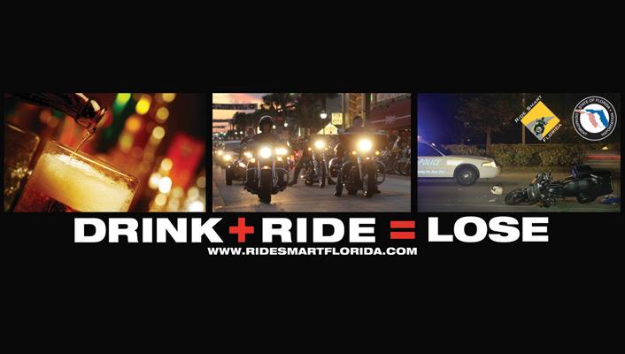 Drink + Ride = Lose