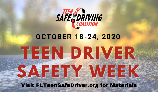 October 2020 Teen Driver Safety Week Banner