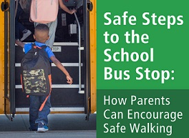 safe step to the Bus stop