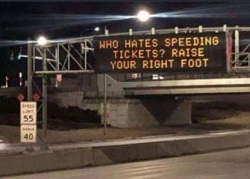 Who Hates Speeding Tickets? Raise Your Right Foot