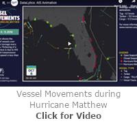 Vessel Movement during Hurricane