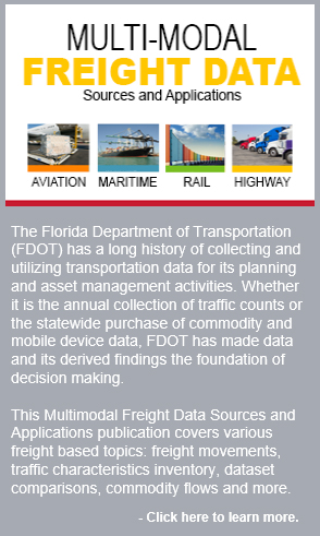 Multimodal Freight Data Sources and Applications