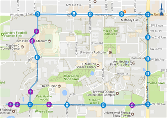 map of UF AID