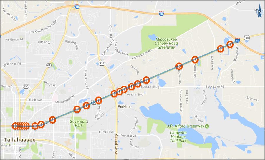 US 90 SPAT map