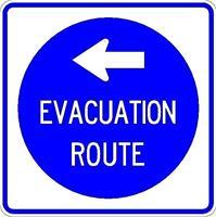 Evacuation Sign Left