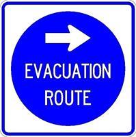 Evacuation Sign Right