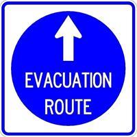 Evacuation Sign straight