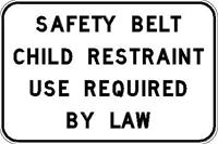 Child Restraint required by law