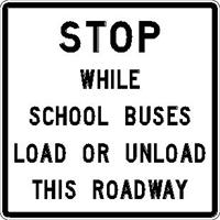 Stop while school buses load