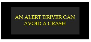 an alert drive can avoid a crash