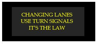 changing lanes use turn signals its the law