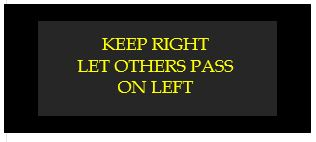 keep right let others pass on left