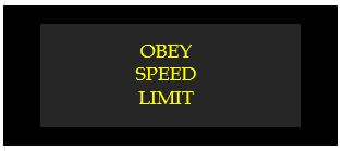 obey speed limit