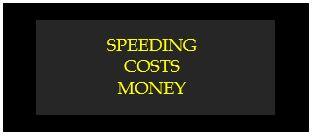 speeding cost money