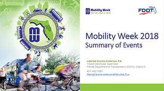 Mobility Week 2018 Summary of Events Presentation