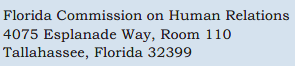 Florida Commission on Human Relations (FCHR) contact image
