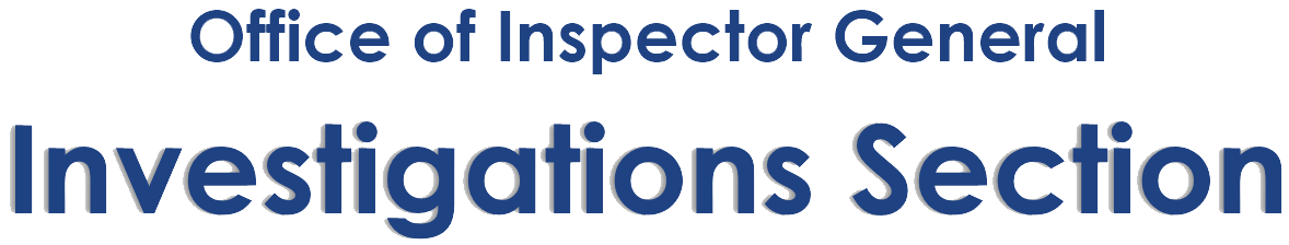 OIG Investigations Section header