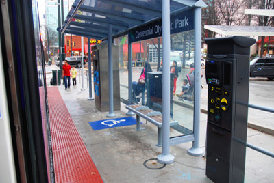 Photo of streetcar stop shelter