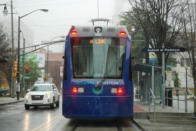 Photo of a modern streetcar