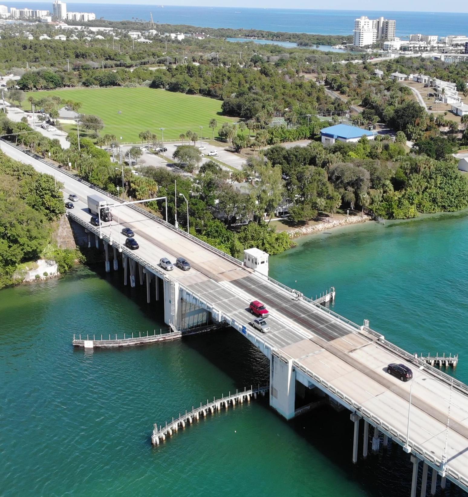 droneimageofthejupiterbridge